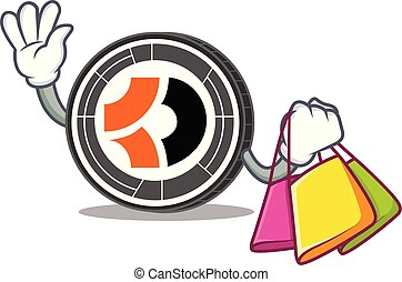 escuro, shopping, personagem, bitcoin, caricatura