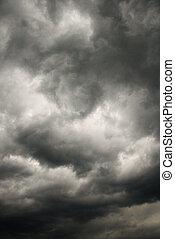 escuro, tempestade, clouds.