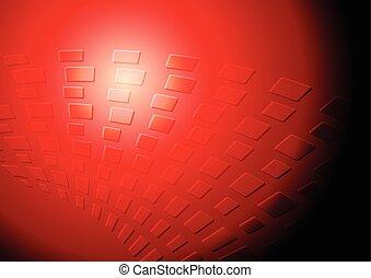 escuro, vermelho, tech, fundo