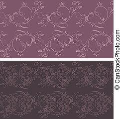 escuro, violeta, ornamental, fundos