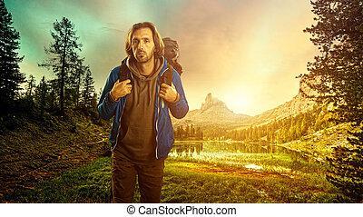 escursionista, italiano, Dolomiti