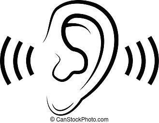 escutar, ícone
