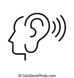 escutar, desenho, ilustração, outros