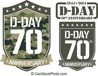 Escutcheon D-DAY Anniversary - Vector illustration of...