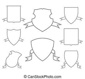 Escutcheons for coat of arms set