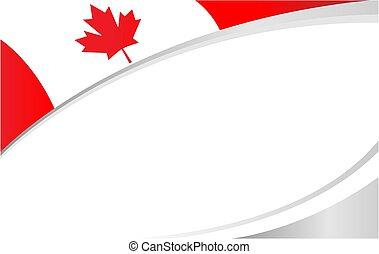 esdoorn, rood, spandoek, blad, frame, canadese vlag