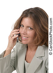 esecutivo, cellphone, 3, affari donna