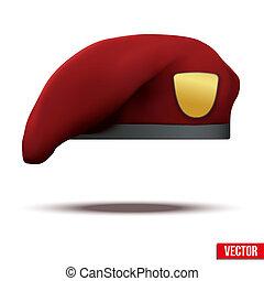 esercito, basco, marrone, forze speciali, militare, rosso