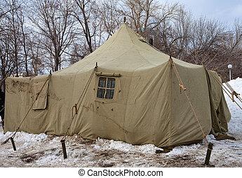 esercito, tende, spedizione