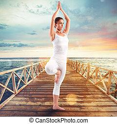 esercizi, banchina, ginnastica