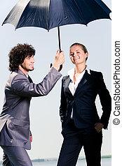 esernyő, alatt