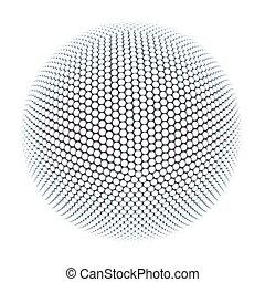 esférico, abstração