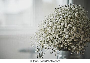 esférico, buquet, flores brancas, 7774.