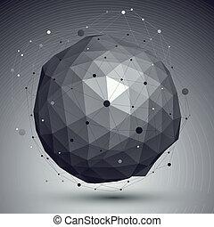 esférico, estilo, resumen, moderno, plano de fondo, futu, malla, origami, 3d