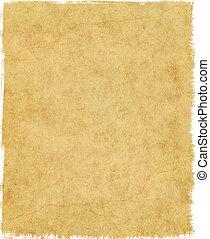 esfarrapado, papel, borda