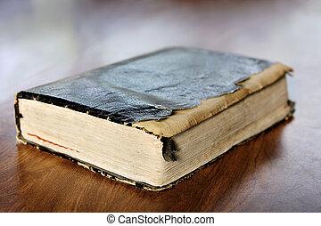 esfarrapado, santissimo, antigas, bíblia, vindima