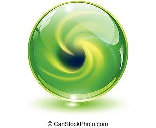 esfera,  3D, cristal, vidrio
