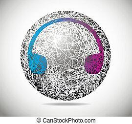 esfera, abstratos, magia