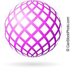 esfera, abstratos, vetorial, ícone
