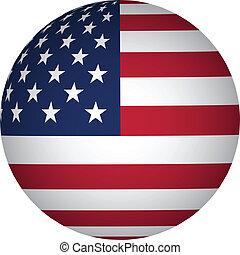 esfera, bandera, estados unidos de américa