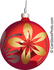 esfera, christmas-árvore, ornamento