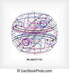 esfera, circuito