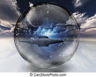 esfera, claro, ufos