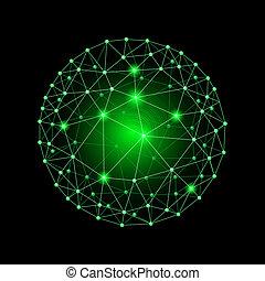 esfera, conectado