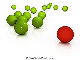 esfera, diferente