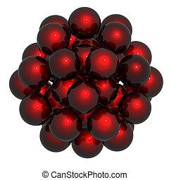 esfera, estructura, blanco