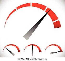 esfera, gráfico, genérico, presión, vector, calibrador,...