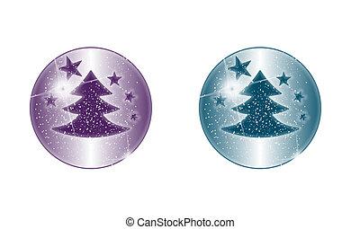 esfera, magia, motivo, natal