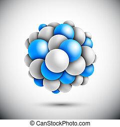 esfera, molécula, forma