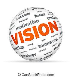 esfera, negócio, visão