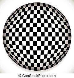 esfera, patrón, a cuadros