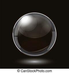 esfera, projeto abstrato, vidro