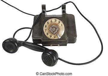 esfera, rotatorio, vendimia, retro, teléfono