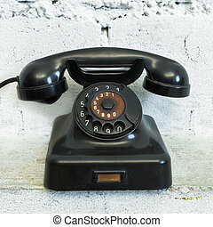esfera, teléfono, rotatorio