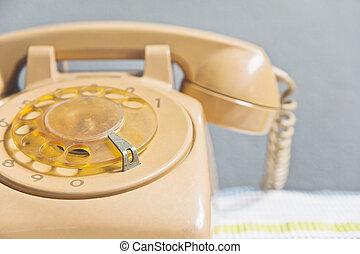 esfera, teléfono rotatorio, retro