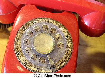 esfera, teléfono viejo, rotatorio