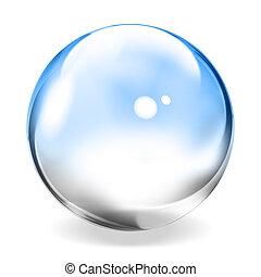 esfera, transparente