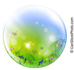 esfera, verão