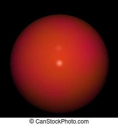 esfera, vermelho