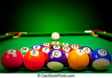 esferas, billiard