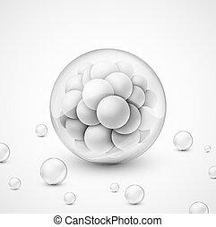 esferas, fundo