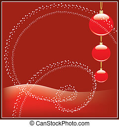 esferas, natal, vermelho