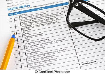 esferográfica, forma, saúde, pen., história, óculos