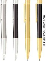 esferográfica, jogo, caneta