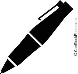 esferográfica, vetorial, caneta, fantasia, ícone