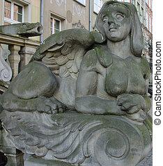 esfinge, escultura